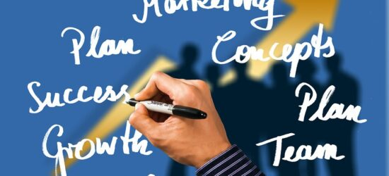 Business Leave Hand Success Marketing Arrow Plan